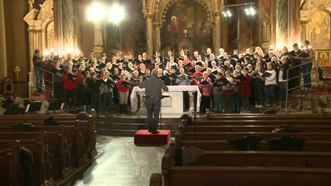 Sights and Sounds: Bel Canto Chorus rehearses inside Basilica of St. Josephat