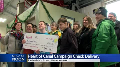 Oconomowoc non-profit for kids with special needs gets $36,500 check through Heart of Canal St. campaign