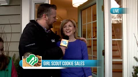 Selling Girl Scout Cookies in Downers Grove: Part 1
