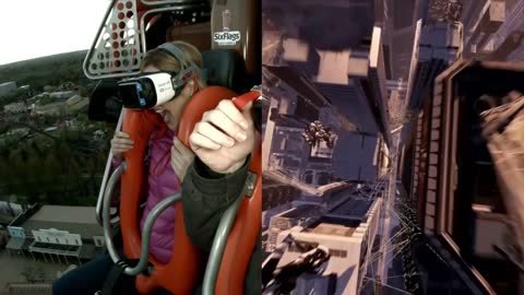 Six Flags Great America Hurricane Harbor Virtual Reality Ride